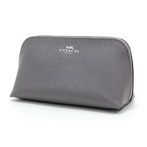 F57857 COSMETIC CASE 17 LEATHER HEATHER GREY